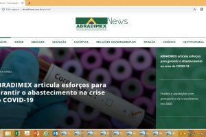 Portal de notícias e newslettter ABRADIMEX